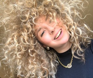 blonde, girl, and curlyhair image