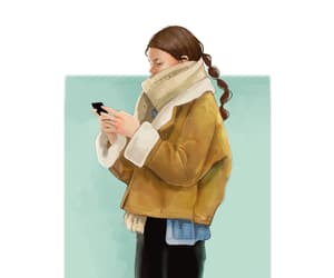 blonde, coffee lover, and Digital Illustration image