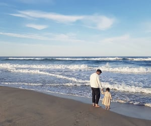 beach, kids, and family image