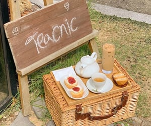 cafe, picnic, and tea image