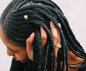 hair, braids, and girls image