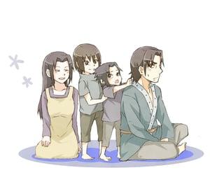 naruto, fugaku uchiha, and sasuke uchiha image