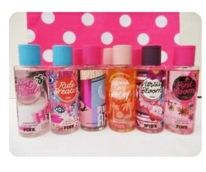 perfume, pink, and victoriasecret image