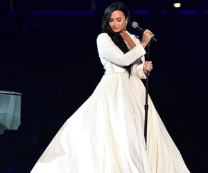 demi lovato, dress, and grammys image