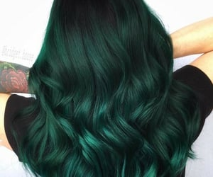 color hair, green hair, and hairstyle image
