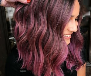 color hair, hair dye, and hairstyle image