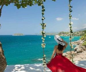 beach, dress, and summee image