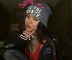 asian girl, beanie, and girl image