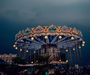 background, blue, and carousel image