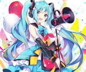 anime, hatsunemiku, and cute image