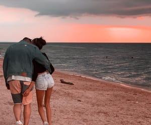 beach, black sea, and sunset image
