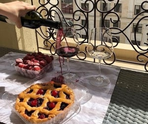 wine, food, and delicious image
