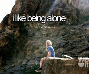 alone, quotes, and me image