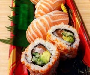 avocado, japanese food, and sushi image