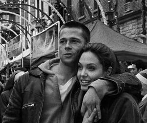 Angelina Jolie, love, and brad pitt image