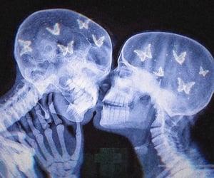 love, kiss, and skeleton image