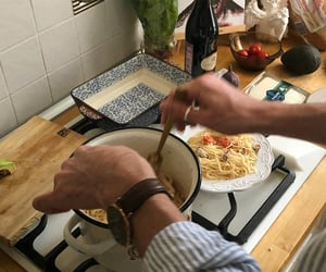 food, cooking, and dinner image