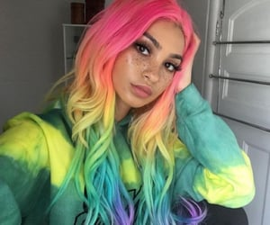 hair, beauty, and colorful image