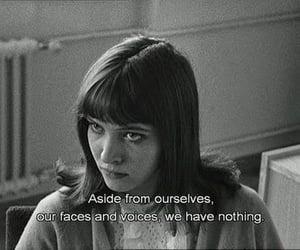anna karina, quote, and black and white image