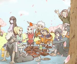 sasuke uchiha, team 7, and sakura haruno image