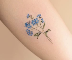 flower, forget me not, and tattoo image