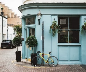 blue, vintage, and bicycle image