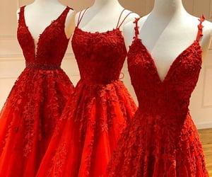 red, dress, and princess image