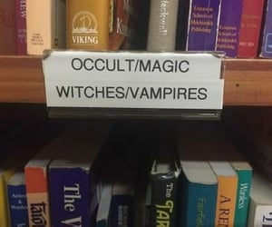 book, witch, and vampire image