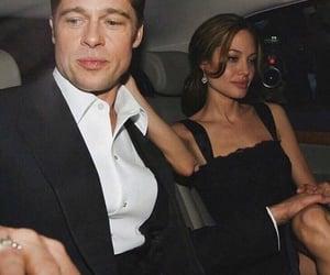 couple, brad pitt, and Angelina Jolie image