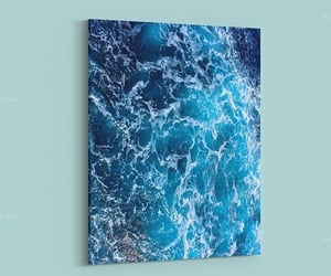 blue, canvas, and chic image