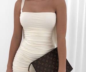 dress, elegant, and Louis Vuitton image