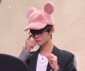 glasses, pink, and plushie image