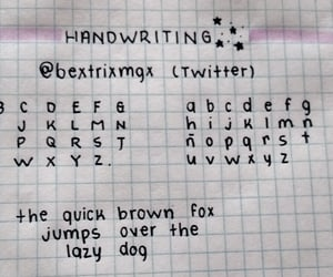 handwriting, color, and Letter image