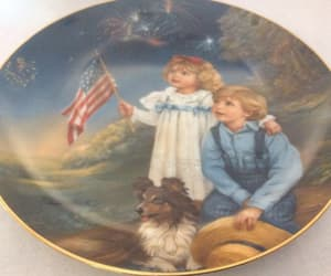 4th of july, etsy, and vintage plate image