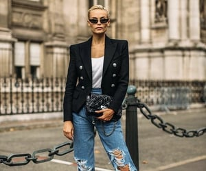 blazer, closet, and denim image