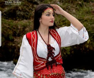 traditional costumes, albanian women, and albanian tradition image