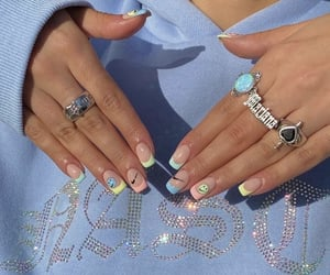 aesthetic, blue, and nails image
