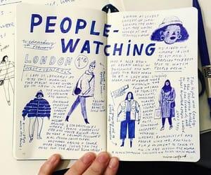 art, writing, and blue image