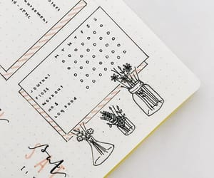 art, bullet journal, and writing image