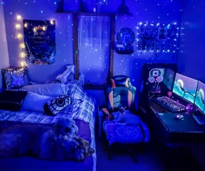 bedroom, glow, and pc image