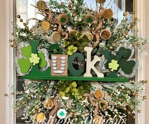 etsy, doordecor, and shamrock wreath image
