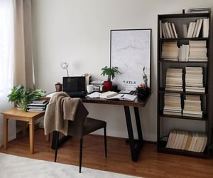 aesthetic, books, and desk image