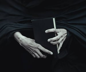 book, hands, and harry potter image