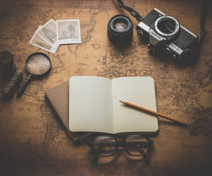 travel, camera, and vintage image