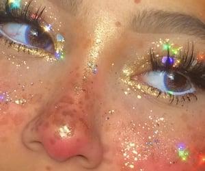 girl, aesthetic, and glitter image