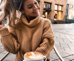 cappuccino, coffee shop, and cozy image