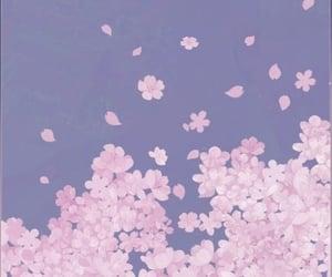 animated, background, and flower image