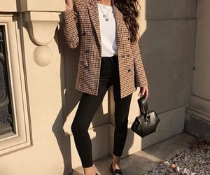 blazer, fashion, and look image