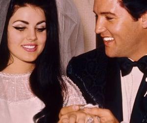 Elvis Presley, wedding, and priscilla presley image