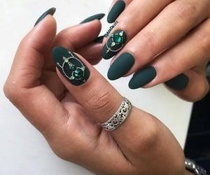almond nailart&ring image